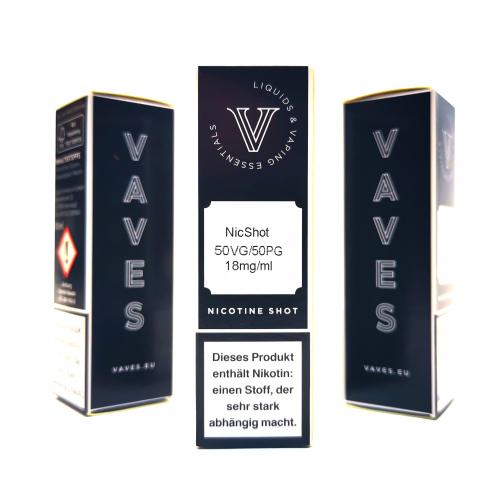 VAVES - Nikotinshot 18mg 50/50 10ml