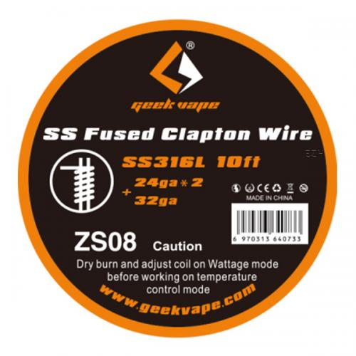 Geekvape Fused Clapton Wire SS316L 10ft